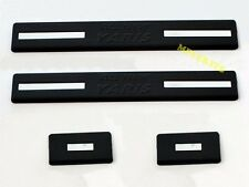 NEW MATTE BLACK SCUFF PLATE PLASTIC TRIM FOR TOYOTA YARIS HATCHBACK 2014 2015