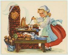 VINTAGE COFFEE POT FRUIT BREAD COOK OVEN SAUSAGE 1 SWEET PENNY CANDY CARD
