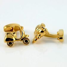 MOD's Scooters Motor Cycle Cuff Links GOLD-PLATED Cufflinks swivel back +Blk Box