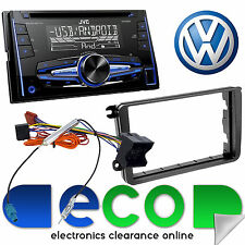 VW Golf MK6 09-12 JVC KW-R520 Double Din CD MP3 USB AUX Car Stereo & Fitting Kit