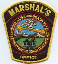 new style ALMA COLORADO CO yellow border MARSHAL police PATCH
