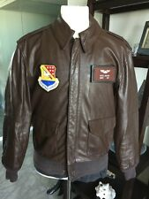 Cooper/Sadd. A-2 Brown Flight US Air Force Bomber Leather Goatskin Jacket 42R L