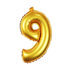 16 Inch Gold Arabic Foil Balloons Wedding Birthday Party Decorations Number 9