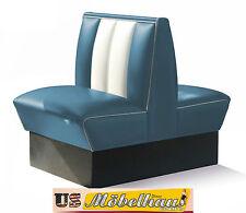 HW-70D-BBlue American Dinerbank Sitzbank Diner Bänke Möbel USA Style Gastronomie