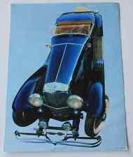 Photo couleur sur encart labo pharma env 1960 Coll Belles voitures Duesenberg 31