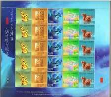 China Macau Macao 2012 Full S/S New Year of Dragon stamps