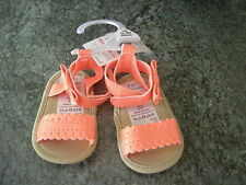 BABY GIRL PRE WALKER SUMMER SANDALS PRAM SHOES UPTO 3 MONTHS 62cm - TAGS, NO BOX