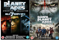 PLANET OF THE APES Complete DVD All 8 Movies Dawn Rise Beneath Conquest Battle
