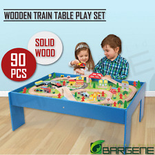 Wooden Train Table Children Pretend Play Set Toy Kids Toddlers Thomas The Tank