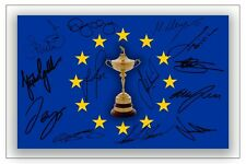 Europe 2014 Ryder Cup Team signé autographe photo print Golf