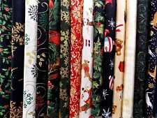"Assorted Christmas 40 Piece Charm Pack 5"" Squares Quilt Fabric Premium Cotton"