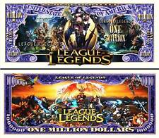 LEAGUE of LEGENDS BILLET MILLION DOLLAR US ! Collection Jeu Vidéo LoL MOBA GAMER