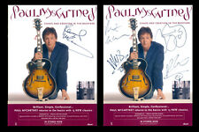 Beatles Paul McCartney Signed 2005 Tour Program w/Full Band Perry Cox LOA
