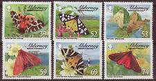 ALDERNEY 2012 TIGER MOTHS SET OF 6 UNMOUNTED MINT, MNH