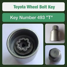 "Genuine Toyota Locking Wheel Bolt / Nut Key 493 ""T"""