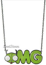 NEW Invader Zim Alien Gir OMG Pendant Necklace Officially Licensed Nickelodeon