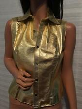 NWOT RALPH LAUREN Purple Label Gold Python Sleeveless Jacket, Shirt sz 4