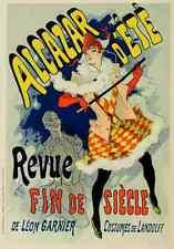A4 photo CHERET, Jules les affiches illustrees 1896, Alcazar DETE imprimé Poster