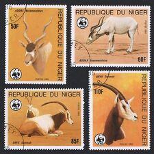 Niger WWF Desert Antelopes 4v CTO SG#1038/41 SC#688-91 MI#941-44