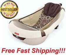 NEW Fisher Price Neutral Brown Calming Vibrations Baby Bath Tub Bathtub