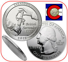 2015 Saratoga NY 5 oz Silver America the Beautiful (ATB) Coin in airtite