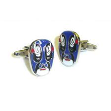 Lucha Libre Mexican Wrestler Mask Blue Cufflinks & Gift Pouch