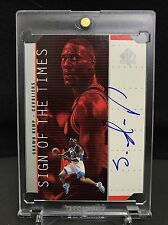 Shawn Kemp 1998-99 SP Authentic Sign of the Times On-Card Auto Die-Cut RARE! SSP
