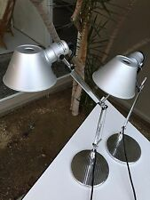 ARTEMIDE TOLOMEO MICRO TABLE TASK LAMP BY MICHELE DE LUCCHI pair!