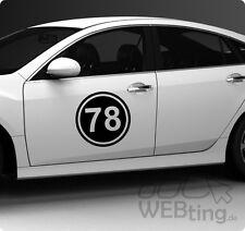 2x 40cm Startnummer Auto Autoaufkleber Mottorad Sport Sticker Rennnummer Nummer