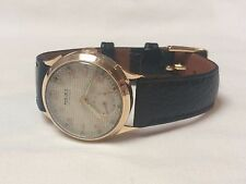 Vintage solid 9k 9ct gold mens watch
