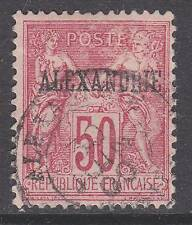 France offices Alexandria sc#12 1899 50c ovpt used  '12 scv$17.50 - b20967