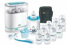 New Avent Baby Bottle Solutions Starter Set w/ Milk Steriliser & Food Warmer