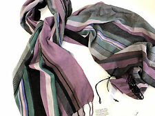 Paul Smith HUGE MULTISTRIPE SCARF 45% SILK 55% COTTON Length 178cm x 70cm