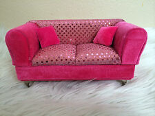 Pink Glitter Style Sofa Jewelry Box Doll's House Furniture