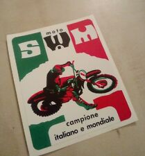 vintage mx enduro twinshock swm gs regolarita Moto tm aspes Decal Sticker isdt