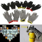 1 Pair PU Palm Coated Protective Safety Anti Static Work Worker Gloves Builders