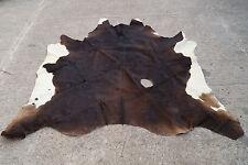 60er KUHFELL STIERFELL FELL LEDER TEPPICH ( 190 x 200cm) COWHIDE 70s 2