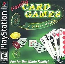 Family Card Games Fun Pack  (Sony PlayStation 1, 2003) PS2 PS3 Complete