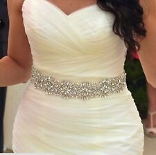 2015 New Charming Bridal Sash With Crystals Wedding Sash Belt Handmade