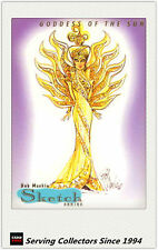 1997 Tempo World Of Barbie Cards Bob Mackie Sketch Card SK1 Goddess Of The Sun