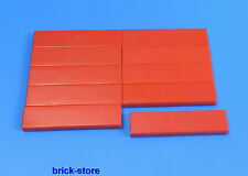 LEGO 1x4 Carrelage rouge / 10-pc