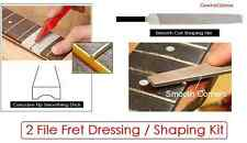 GeetarGizmos Guitar FRET SHAPING / DRESSING KIT Sanding Stick Flat File Luthier