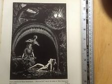 1920s Woodcut Print After The Fall by Bruno Goldschmidt : Eden, Adam and Eve