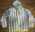 ADIDAS ULTIMATE SHOCKWAVE FULL ZIP FZ HOODED WIND JACKET RUNNING L BLACK WHITE