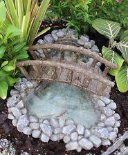 Cooked Creek Pond w Bridge WS 1599 Miniature Garden Dollhouse Fairy Gnome Garden