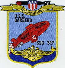 USS Barbero SSG 317 - Regulus Missile -  BC Patch Cat No C5630