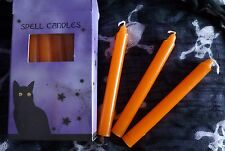 Magic Spell Candles (Orange) Pack of 12 - Pagan - spells - wish - Halloween