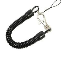 1PC Plastic Spring Coil Spiral Stretch Ring Key Chain Keychain Retractable Black