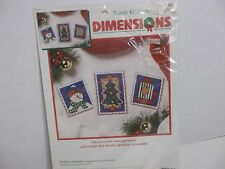 Christmas Cross-Stitch Kit New! Holiday Stamps Design By Victoria Howard