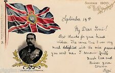 Lord Kitchener of Khartoum Präge-AK 1900 Great Britain Adel Flagge 1601224